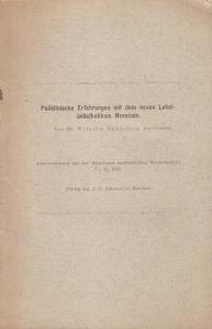 Danielsen, Wilhelm: Poliklinische Erfahrungen mit dem neuen Lokalanästhetikum Novokain. (Sonderabdruck aus der Münchener Medizinischen Wochenschrift, No. 46, 1905).