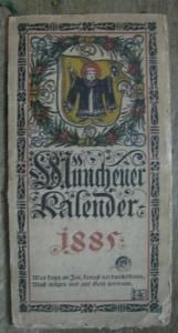 Münchener Kalender. - Hupp, Otto (Illustrationen). - Prof. Nußbaum: Münchener Kalender. 1. Jahrgang 1885.