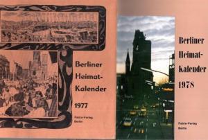 Berlin Heimatkalender. - Berliner Heimat-Kalender 1977 und Heimatkalender 1978.