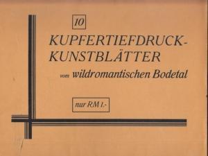 Bodetal.- Kupfertiefdruck - Kunstblätter vom wildromantischen Bodetal.