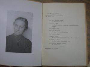 Zahn - Harnack, Agnes von. - Dr. Marie-Elisabeth Lüders / Prof. D. Balla / Ina Seidel / Freda Wuesthoff / Margarete Ehlert / Dr. Hildegard Meißner und Dr. Axel von Harnack (Redner) / Ricarda Huch: Agnes von Zahn-Harnack in memoriam. Gedenkreden und Ged...