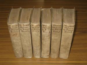 Mezeray, François Eudes D.: Abrégé Chronologique De L'histoire De France. Historiographe de France. Divise en six tomes complet. Trois parties en six volumes.