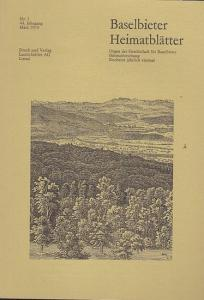 Gesellschaft für Baselbieter Heimatforschung (Hrsg.) / Paul und Peter Suter (Red.): Baselbieter Heimatblätter. Nr. 1 - 44. Jahrgang März 1979.