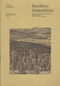Gesellschaft für Baselbieter Heimatforschung (Hrsg.) / Paul und Peter Suter (Red.): Baselbieter Heimatblätter. Nr. 2/3 - 44. Jahrgang September 1979.