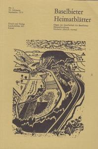 Gesellschaft für Baselbieter Heimatforschung (Hrsg.) / Paul und Peter Suter (Red.): Baselbieter Heimatblätter. Nr. 3 - 43. Jahrgang September 1978.