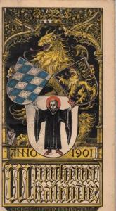 Münchener Kalender. - Hupp, Otto: Münchener Kalender 1901, 17. (Siebzehnter) Jahrgang.