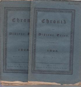 Trier. - Chronik der Diözese. - Chronik der Diözese Trier. September und Oktober 1828. 2 Hefte.