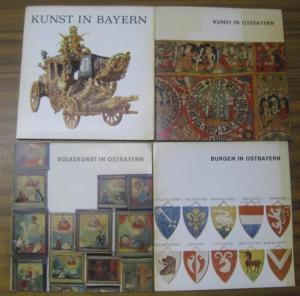 Ostbayern. - Red.: Sifrid Färber. - Konvolut mit 4 Teilen: 1) Burgen in Ostbayern. 2 ) Volkskunst in Ostbayern. 3 ) Kunst in Ostbayern. 4 ) Kunst in Bayern.