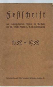 Kaltenleutgeben. - Josef Lederer: Festschrift zum zweihundertjährigen Jubiläum der Pfarrkirche zum heil. Apostel Jakobus d. A. in Kaltenleutgeben 1732 - 1932.