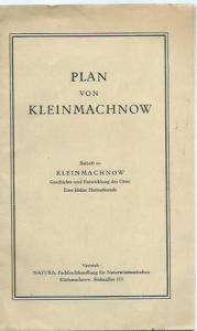 Kleinmachnow. - Sternberg, Rudolf ( Zeichnung ). - Herausgeber: Kulturbund der DDR. - Plan von Kleinmachnow. Beiheft zu : Kleinmachnow - Geschichte und Entwicklung des Ortes. Eine kleine Heimatkunde. - Zeichnung: Rudolf Sternberg.