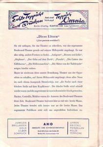 Berlin. Tribüne: Am Knie-Berliner Strasse. - Intendant: Viktor de Kowa- (Hrsg.) Programmzettel der Tribüne. 1947. Konvolut aus 2 Zetteln.