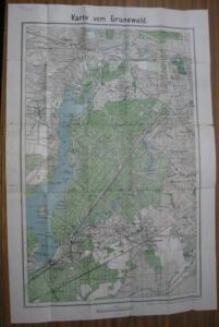 Berlin - Grunewald. - Karte vom Grunewald. 1 : 22 000.
