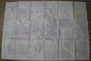 Frankfurt an der Oder. - Plan der Stadt Frankfurt ( Oder ). Maßstab 1 : 10 000. - REPRINT.