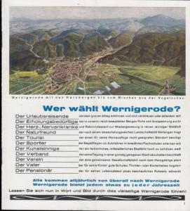 Verkehrsamt Wernigerode (Hrsg.). - Walter Looke (Text): Harzluftkurort Wernigerode - der Schlüssel zum Harz.