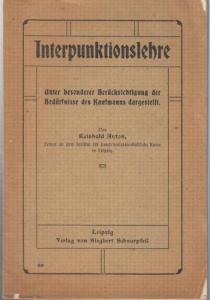 Anton, Reinhold: Interpunktionslehre unter besonderer Berücksichtigung der Bedürfnisse des Kaufmanns dargerstellt.