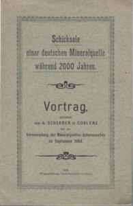 Scherrer, A.: Schicksale einer deutschen Mineralquelle während 2000 Jahren.