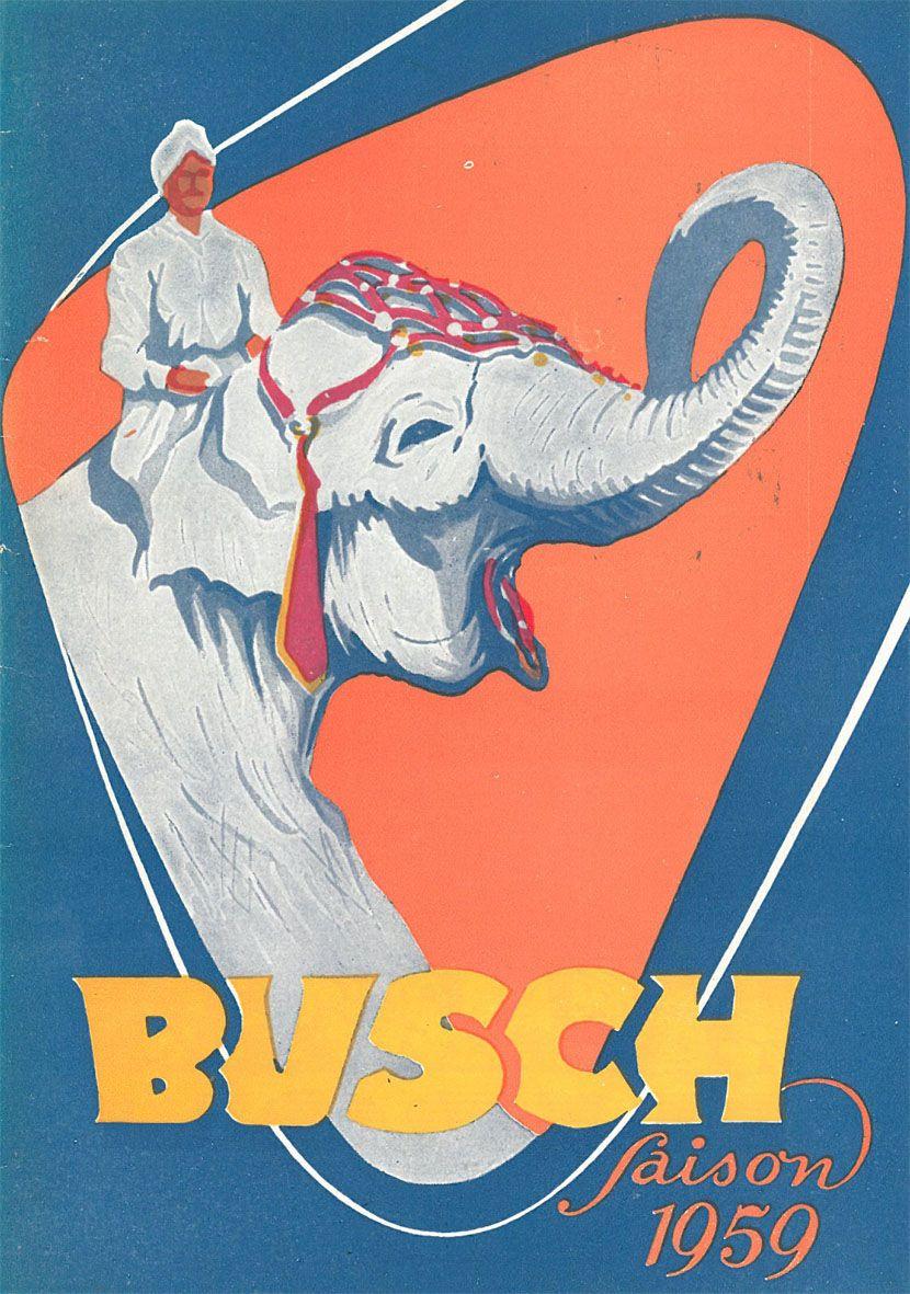 Circus Busch Circus Busch - Saison 1959 (inkl. Ehren-Eintrittkarte)