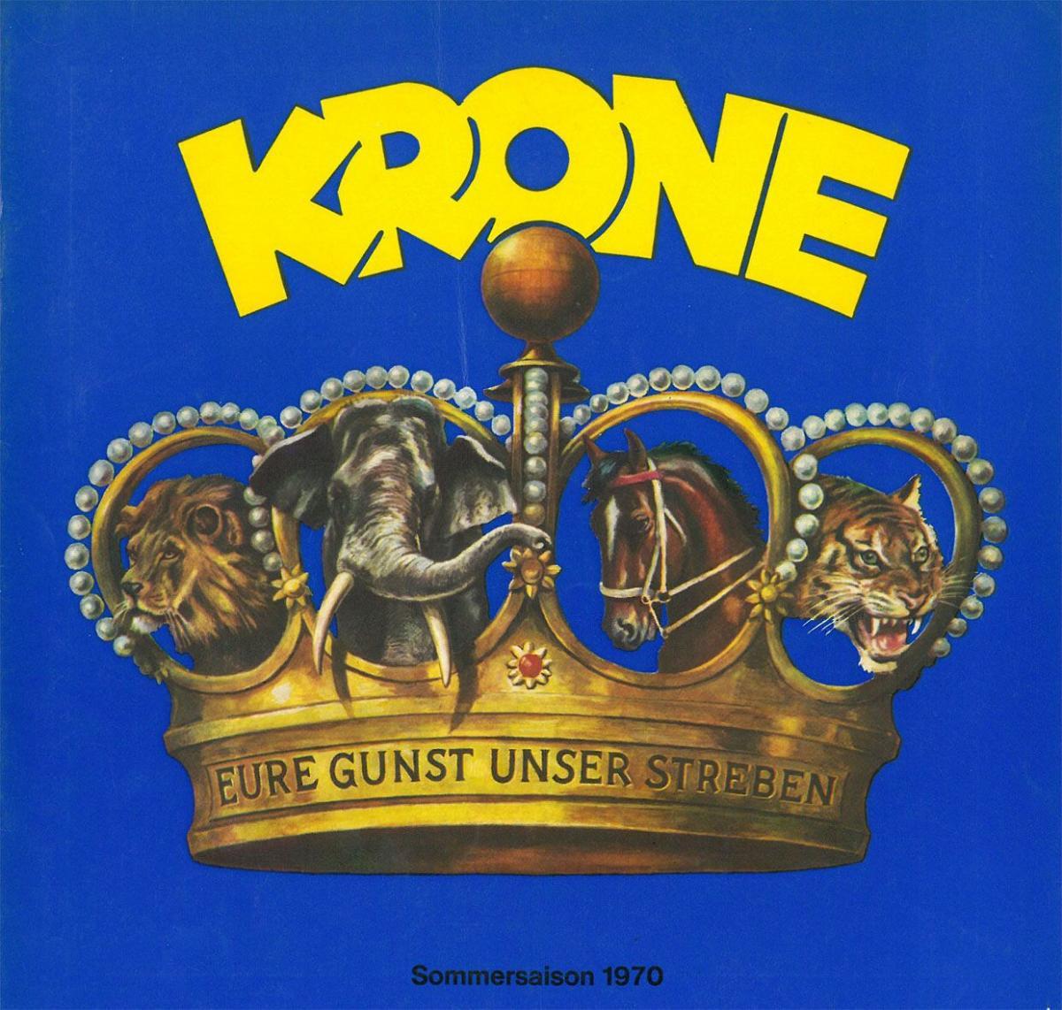 Circus Krone Circus Krone - Programmheft 1970