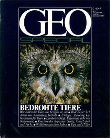 GEO Special GEO Special. Begrohte Tiere. Heft 5, 1982.