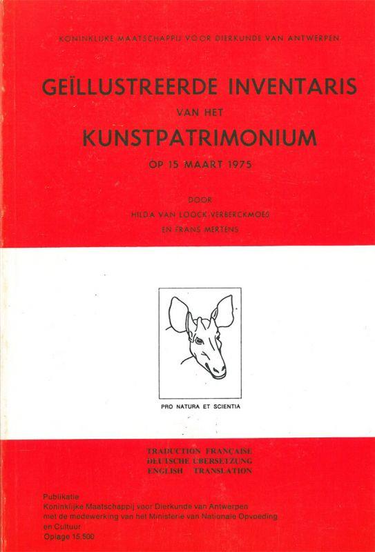 Van Loock-Vervreckmoes, Hilda und Frans Mertens Geillustreerde Inventaris van het Kunstpatrimonium op 15 Maart 1975