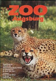 """Zoo Augsburg Sonderdruck aus """"Berichte des Naturwissenschaftlichen Vereins für Schwaben e.V."""" 95. Band, Heft 2 (Geparden)"""