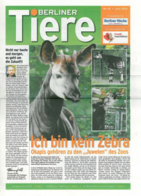 Berliner Woche; Freunde Hauptstadtzoos Berliner Tiere. Nr. 14, Juni 2012