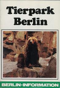 """Tierpark Berlin """"Berlin-Information"""" mit Plan (Braunbär)"""
