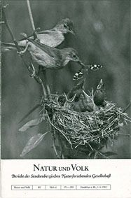 Senckenbergische Naturforschende Gesellschaft Natur und Volk - Bericht der Senckenbergischen Naturforschenden Gesellschaft. 82, Heft 6 (Inhalt u.a.: Hummeln als unfreiwillige Transportflieger, Tagfalter als Vogelnahrung)