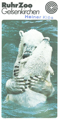 Ruhr-Zoo Gelsenkirchen Faltblatt (zwei Eisbären)