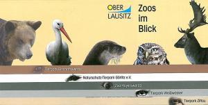 Informationsbroschüre über die Tierparkeinrichtungen in der Oberlausitz: Tierpark Bischofswerda, Naturschutz-Tierpark Görlitz e.V., Zoo Hoyerswerda, Tierpark Weißwasser und Tierpark Zittau