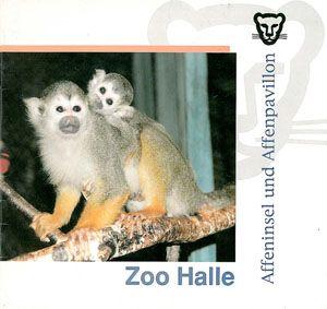 Zoo Halle Infobroschüre (Affeninsel und Affenpavillon)