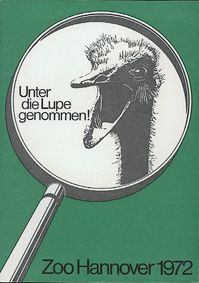 """Zoo Hannover """"Unter die Lupe genommen!"""", Jahresbericht 1972"""