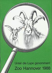 """Zoo Hannover """"Unter die Lupe genommen!"""", Jahresbericht 1988"""
