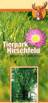 Tierpark Hirschfeld Faltplan: Tierisch gut, tierisch nah