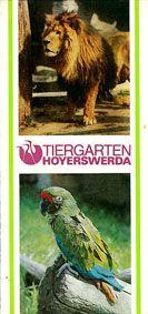 Tiergarten Hoyerswerda Faltblatt (Foto Löwe/Leguan)