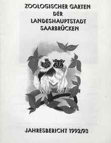Zoo Saarbrücken Jahresbericht 1992/93