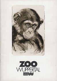 Zoo Wuppertal Zooführer (Zeichnung Schimpanse)