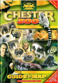 Chester Zoo Guide & Map (versch. Tierbilder, Katta, Tierpfleger)