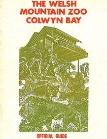 The Welsh Mountain Zoo Colwyn Bay Zooführer (Zeichnung Löwen/Hütte)