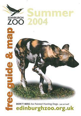 Edinburgh Zoo Free Guide & Map, Summer 2004