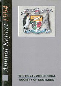The Royal Zoo of Scotland Annual Report 1994 mit Tierbestandsliste des Edinburgher Zoo