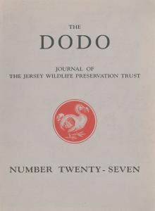 Jersey Wildlife Preservation Trust The Dodo - Journal of the Wildlife Preservation Trusts No. 27