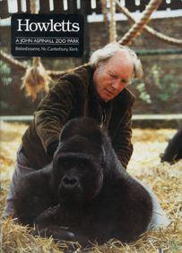 Howletts (Kent) A John Aspinall Zoo Park (Aspinall mit Gorilla)
