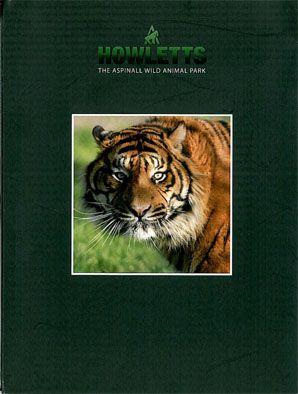 Howletts (Kent) Souvenir Brochure (Tigerporträt) mit Lageplan