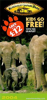 Knowsley Safari Park Faltblatt (Elefanten)