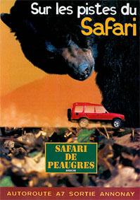 Safari de Peaugres Sur les pistes du Safari, Safari de Peaugres (Bär, roter Jeep),