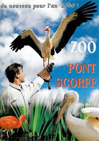 """Parc Zoologique de Pont-Scorff Poster """"du nouveau pour l´an 2000!"""""""