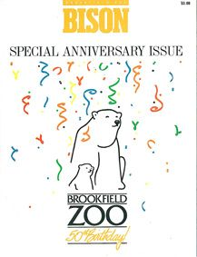 Brookfield Zoo Chicago Zoological Society, BISON, Volume 1, No.3, Spec. Anniversary Issue