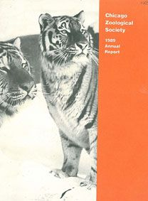 Chicago Zoological Society Annual Report 1989