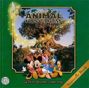 "Disney's Animal Kingdom Souvenir Book ""Where dreams come true"""